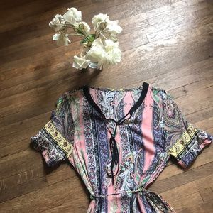 Pucci Inspired Vintage Silky Dress - Paisley